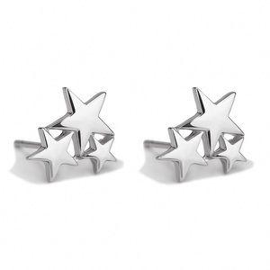 Silver Star Cluster Stud Earrings
